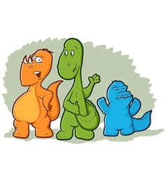 Cartoon Dinosaur Monsters vector