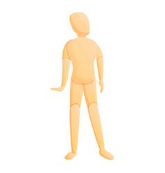 Child mannequin icon cartoon style vector