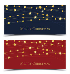 christmas golden stars vector image