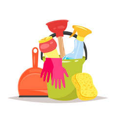 cleaning service tools vector image