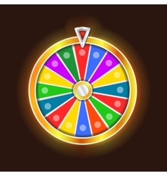 Colorful fortune wheel design vector image