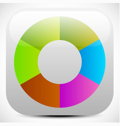 colorful icon color wheel color palette graphics vector image