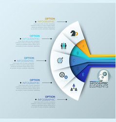 Creative infographic design layout 5 connected vector