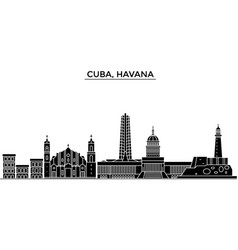 Cuba havana architecture city skyline vector