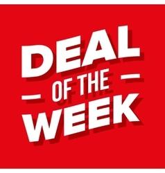 Deal week lettering vector