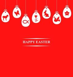 Egg symbol hang red vector