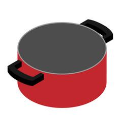 Empty cooking pot vector