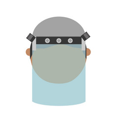 face mask safety vector image