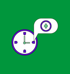 Flat icon design collection casino stuff time vector