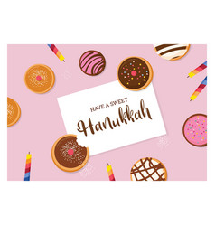 happy hanukkah- traditional jewish holiday vector image