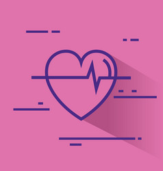 heart cardio healthy icon vector image