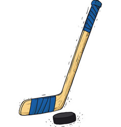 Hockey stick and washer vector