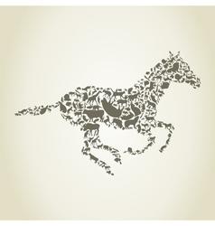 horse animals vector image