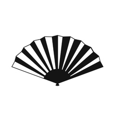 Japanese folding fan icon simple style vector