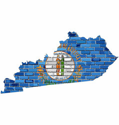 kentucky map on a brick wall vector image