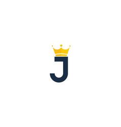 king letter j logo icon design vector image