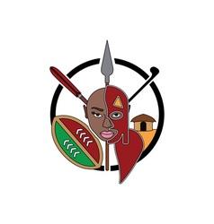 Maasai-tribe-sign vector