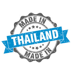 Made in thailand round seal vector
