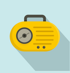 mini radio icon flat style vector image