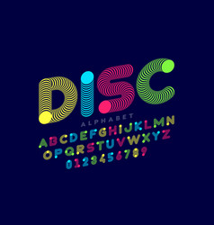 modern style font vector image