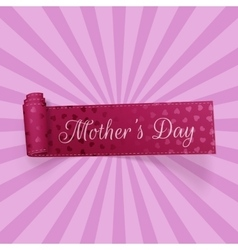 Mothers Day greeting curved Ribbon with Text vector