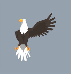 north american bald eagle character raising one vector image