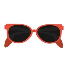 orange frame sunglasses icon vector image