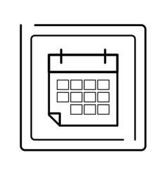 paper calendar cartoon vector image