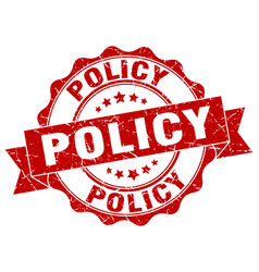 Policy stamp sign seal vector