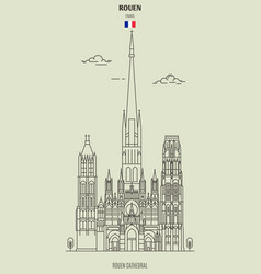 Rouen cathedral vector