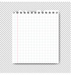 sheet of paper on transparent background vector image