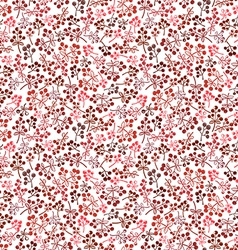 small red berries seamless background vector image