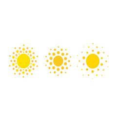 sun dots icons summer rest sign travel agency vector image