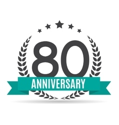 Template Logo 80 Years Anniversary vector