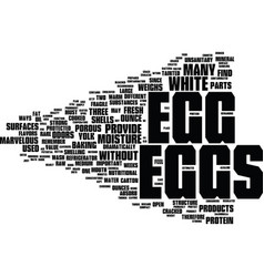 The marvelous egg text background word cloud vector
