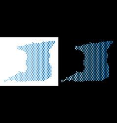Trinidad island map hex-tile mosaic vector