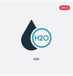 Two color h2o icon from science concept isolated vector