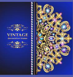 vintage floral style brochure and flyer design vector image