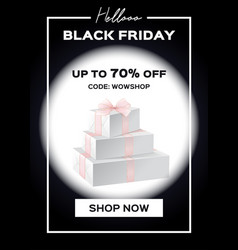 web banner black friday sale up to 70 percent vector image