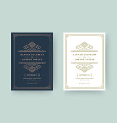 wedding invitation and save date cards vector image