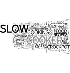 What exactly is a crockpot text word cloud concept vector