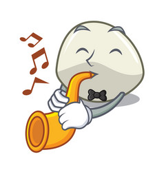 With trumpet traditional italian food mozzarella vector