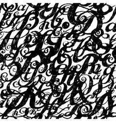 Calligraphy alphabet typeset lettering Seamless vector image