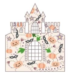 Halloween castle vintage vector image vector image