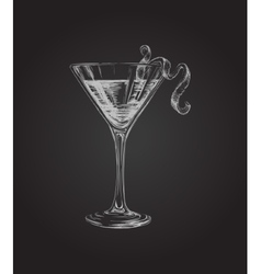 Hand Drawn Sketch Cosmopolitan Cocktail Drinks vector image