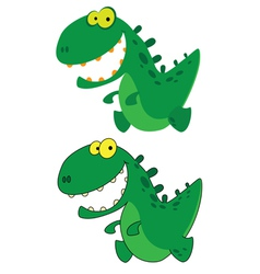 little smile dino vector image vector image