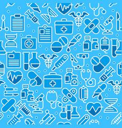medical blue background vector image vector image