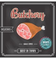Poster meat chalkboard vector image vector image