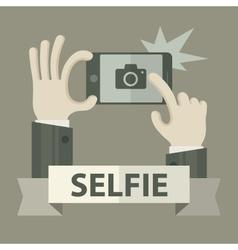 Selfie phonein grey vector image