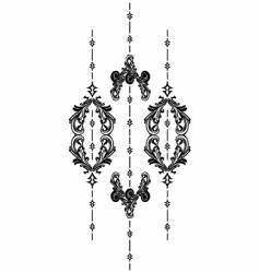 vintage vertical vector image vector image